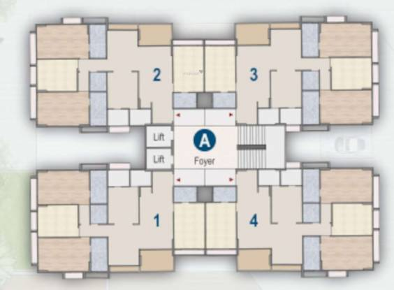indraprasth-saptak A Cluster Plan from 1st to 14th Floor