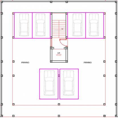 beeline-apartments Beeline Apartments Cluster Plan for ground Floor