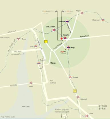 Lodha Casa Bella Gold Location Plan