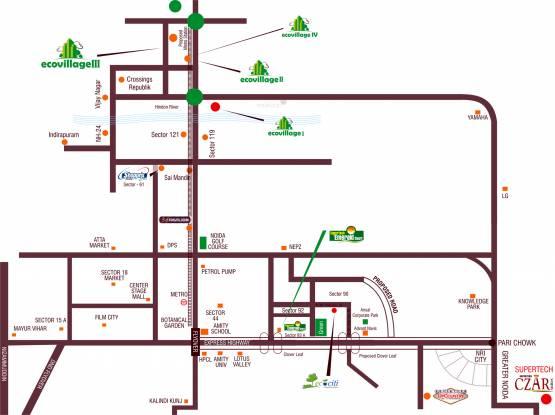 Supertech Eco Village 3 Location Plan