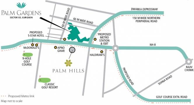 Emaar Palm Gardens Location Plan