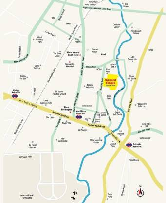 Sheth Vasant Oasis Location Plan