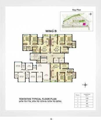 vistas Tower B Cluster Plan