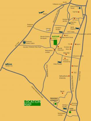Purva Windermere Location Plan