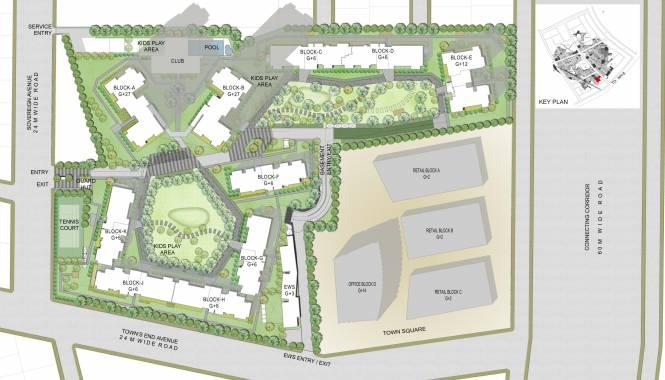 Vatika Sovereign Next Site Plan