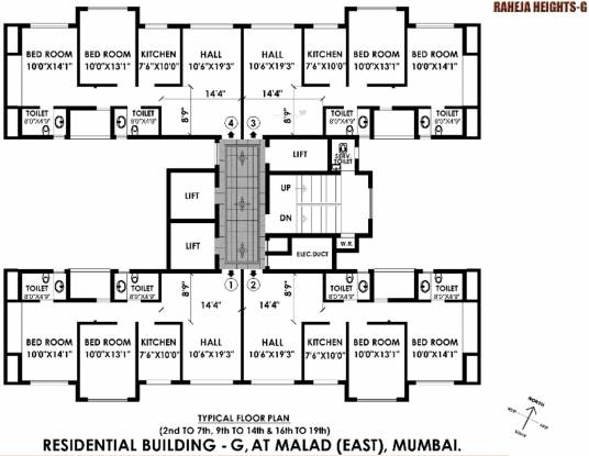 Images for Cluster Plan of Raheja Heights