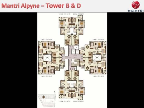 Mantri Alpyne Cluster Plan