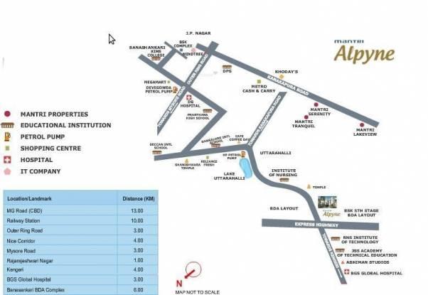 Mantri Alpyne Location Plan