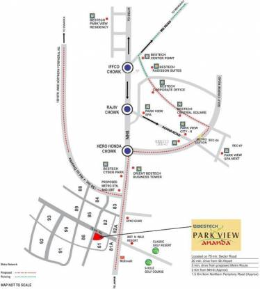 Bestech Park View Ananda Location Plan