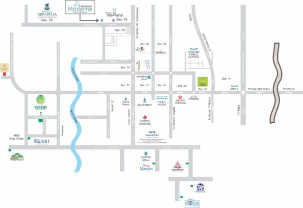 Mahagun Moderne Location Plan