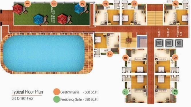 Shubhkamna Loginn Serviced Apartments Layout Plan