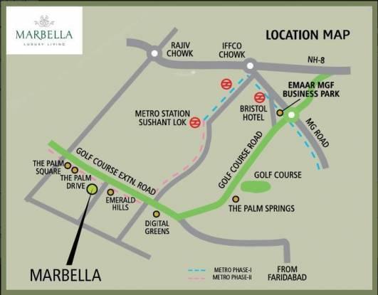 Emaar Marbella Location Plan