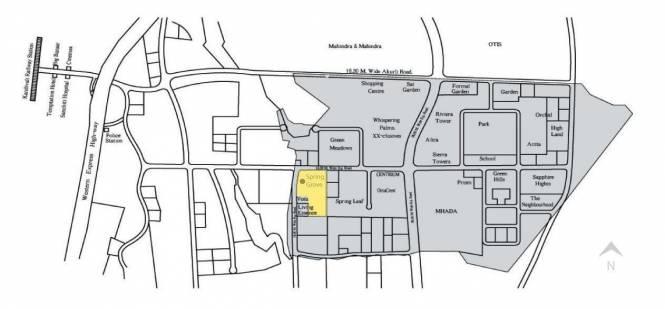 Lokhandwala Spring Grove Location Plan