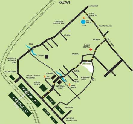 Mohan Greenwoods Location Plan
