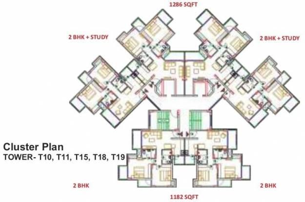 Shri Radha Sky Gardens Cluster Plan