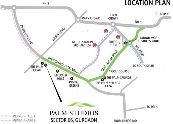 Emaar Palm Studios Location Plan