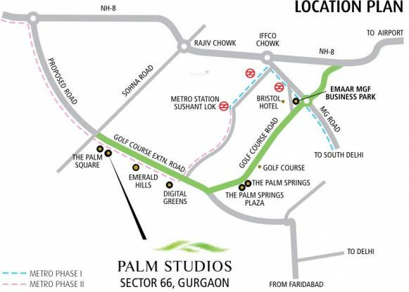 palm-studios Images for Location Plan of Emaar Palm Studios