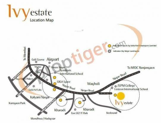 Kolte Patil IVY Estate Location Plan