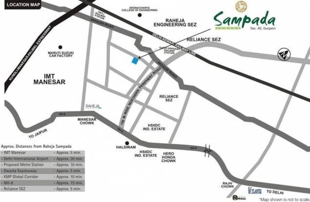 Raheja Sampada Location Plan