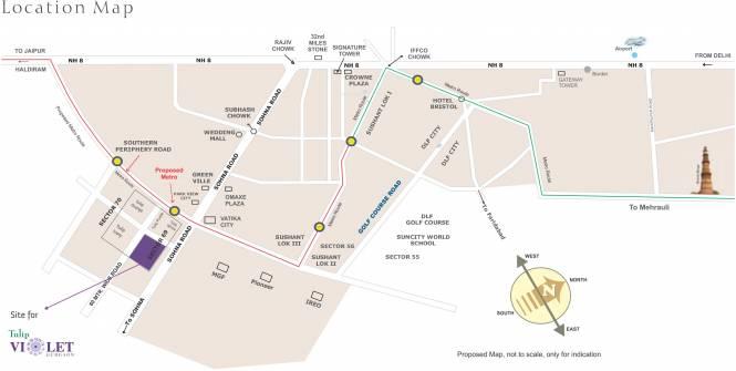 Tulip Violet Location Plan