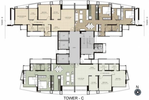 Kalpataru Towers Cluster Plan
