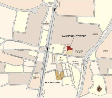 Kalpataru Towers Location Plan