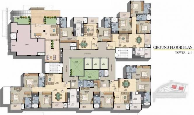 Prestige Sunnyside Cluster Plan