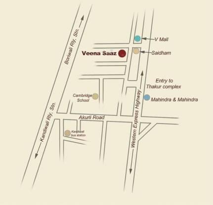 Veena Saaz Location Plan
