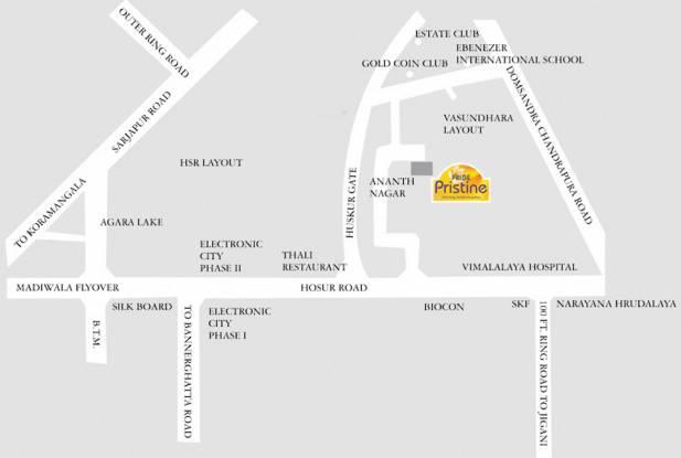 Pride Pristine Location Plan