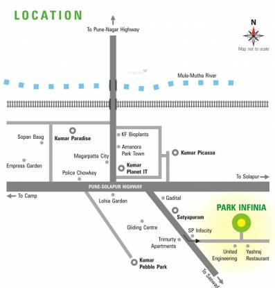 Kumar Park Infinia Location Plan