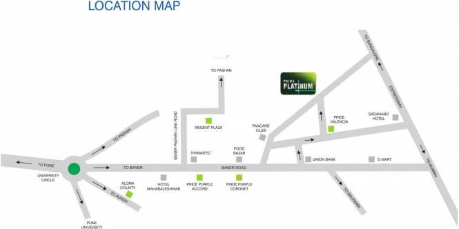 Pride Platinum Location Plan