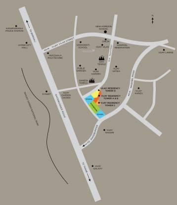 Vijay Vijay Residency Location Plan