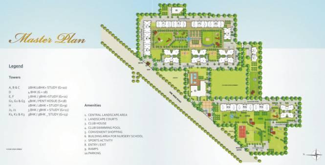 Indiabulls Centrum Park Layout Plan