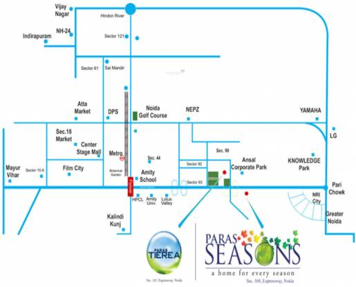 Paras Seasons Location Plan