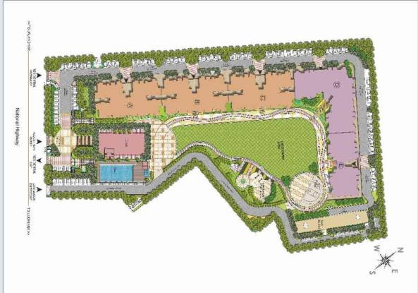 DLF Park Place Site Plan