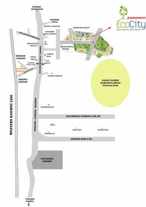 Sanghvi Ecocity Location Plan