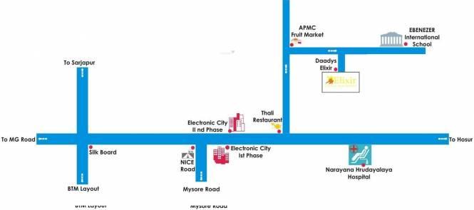 Daadys Elixir Location Plan