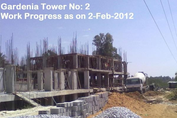 Keerthi Gardenia Construction Status