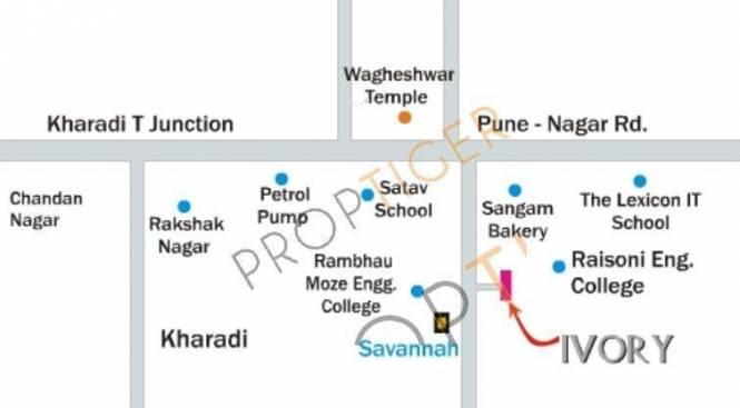 Bhandari Ivory Location Plan
