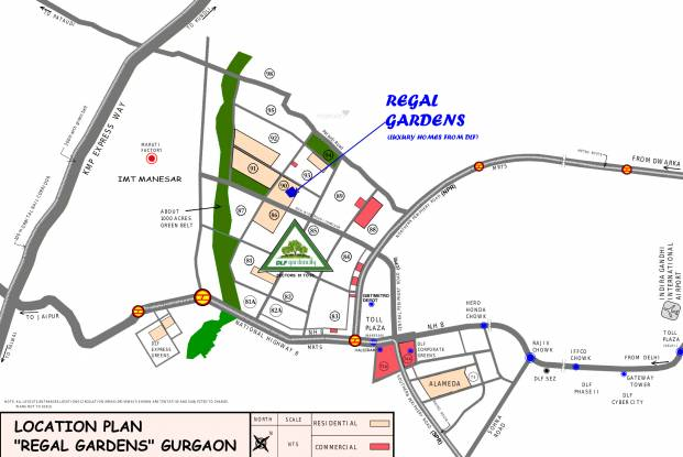 DLF Regal Gardens Location Plan