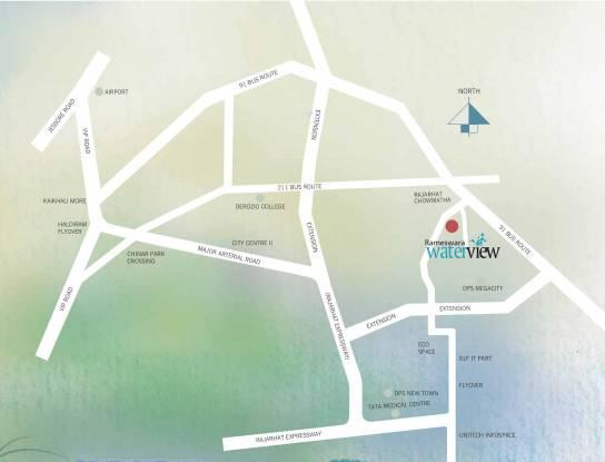 Rameswara Waterview Location Plan