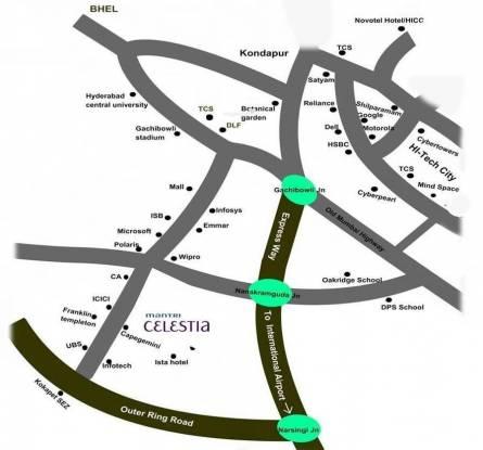 Mantri Celestia Location Plan