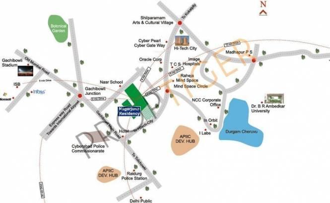 NCC Nagarjuna Residency Location Plan