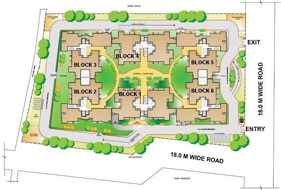 Sobha Carnation Site Plan