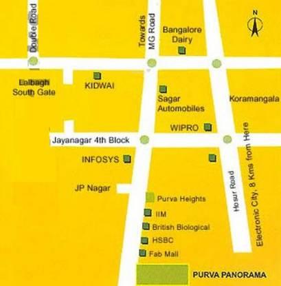 purva-panorama Images for Location Plan of Purva Purva Panorama