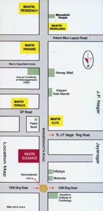 Images for Location Plan of Mantri Elegance