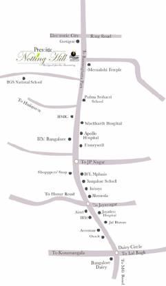Prestige Notting Hill Location Plan