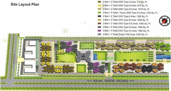 Panchsheel Greens Layout Plan