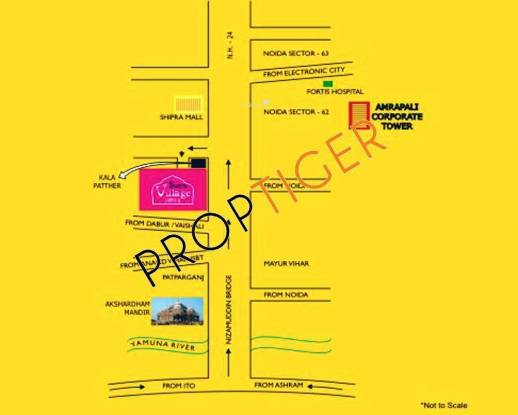 Amrapali Village Location Plan