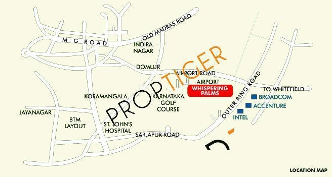 Vaswani Whispering Palms Location Plan